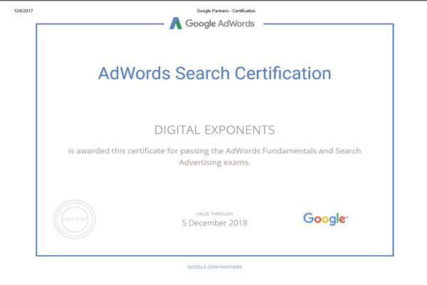 google certification agency